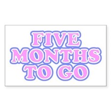 Five Months To Go Rectangle Decal