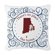 Rhode Island Woven Throw Pillow