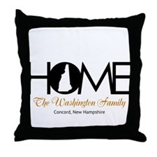 New Hampshire Home Throw Pillow