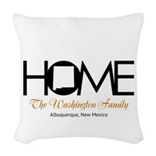New Mexico Home Woven Throw Pillow