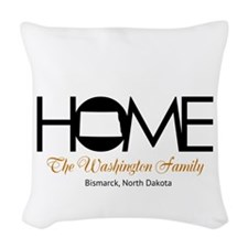 North Dakota Home Woven Throw Pillow