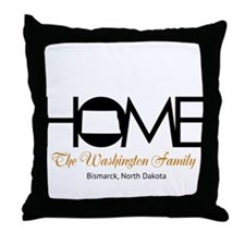 North Dakota Home Throw Pillow