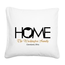 Ohio Home Square Canvas Pillow