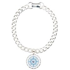 Compass, Nautical Monogr Bracelet