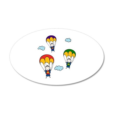 Parachute Kids Wall Decal