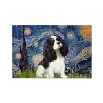 Starry Night Tri Cavalier Rectangle Magnet