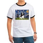 Starry Night Tri Cavalier Ringer T