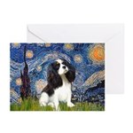 Starry Night Tri Cavalier Greeting Cards (Pk of 10