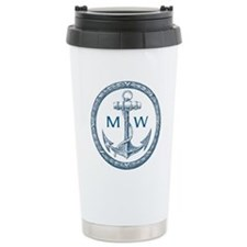 Anchor, Nautical Monogram Travel Mug