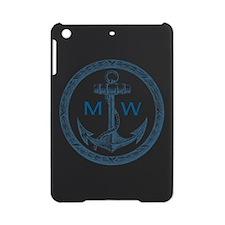 Anchor, Nautical Monogram iPad Mini Case