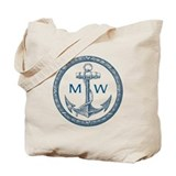 Anchor monogram Totes & Shopping Bags