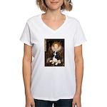 The Queen's Tri Cavalier Women's V-Neck T-Shirt