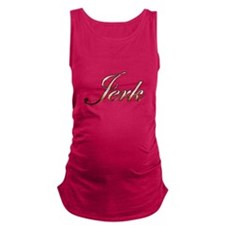 Gold Jerk Maternity Tank Top