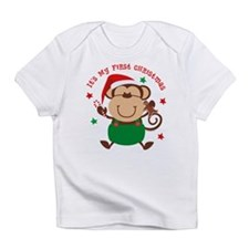Monkey Boy 1st Christmas Infant T-Shirt