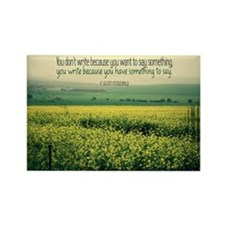 Write To Say Quote on Large Framed Print Magnets