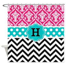 Cute Pink damask Shower Curtain