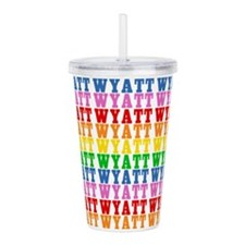 Rainbow Wyatt Pattern Acrylic Double-wall Tumbler