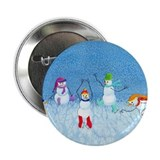 "Skating Snowmen 2.25"" Button (10 pack)"
