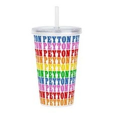 Rainbow Peyton Pattern Acrylic Double-wall Tumbler