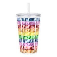 Rainbow Nathaniel Pattern Acrylic Double-wall Tumb