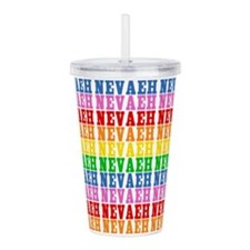 Rainbow Nevaeh Pattern Acrylic Double-wall Tumbler