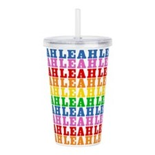 Rainbow Leah Pattern Acrylic Double-wall Tumbler