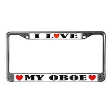 I Love Oboe License Plate Frame