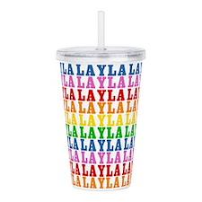 Rainbow Layla Pattern Acrylic Double-wall Tumbler