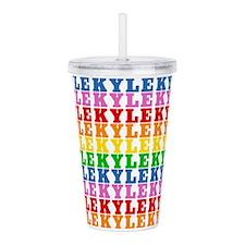 Rainbow Kyle Pattern Acrylic Double-wall Tumbler