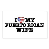 I Love My Puerto Rican Wife Rectangle Stickers