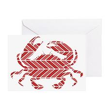 Chevron Crab Greeting Card