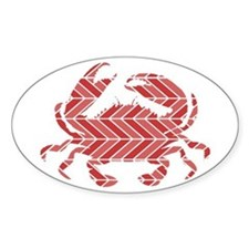Chevron Crab Decal