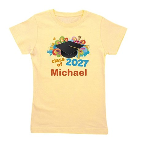 Class Of 2027 Personalized Girl's Tee