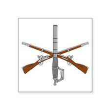 "Funny Crossed rifles Square Sticker 3"" x 3"""