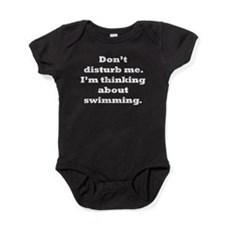 Thinking About Swimming Baby Bodysuit