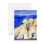 WHEATEN beach Greeting Cards (Pk of 10)