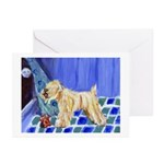 Wheaten barks at moonGreeting Cards (Pk of 10)