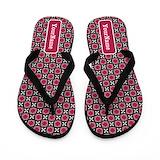 Personalize black pink Flip Flops