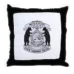 Missouri Highway Patrol Throw Pillow
