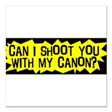 "Cute Shoot Square Car Magnet 3"" x 3"""
