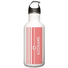 Coral Rope Knot Stripe Water Bottle