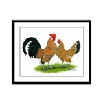 Mille Fleur Dutch Bantams Framed Panel Print
