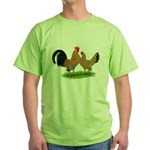 Mille Fleur Dutch Bantams Green T-Shirt