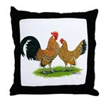 Mille Fleur Dutch Bantams Throw Pillow