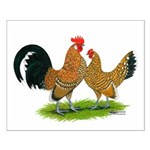 Mille Fleur Dutch Bantams Small Poster