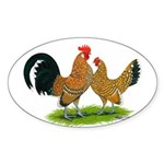 Mille Fleur Dutch Bantams Oval Sticker