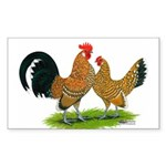 Mille Fleur Dutch Bantams Rectangle Sticker