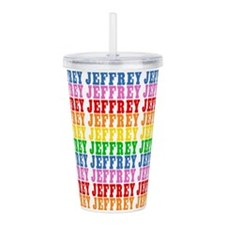 Rainbow Jeffrey Pattern Acrylic Double-wall Tumble