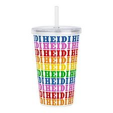 Rainbow Heidi Pattern Acrylic Double-wall Tumbler