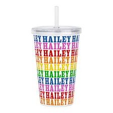 Rainbow Hailey Pattern Acrylic Double-wall Tumbler